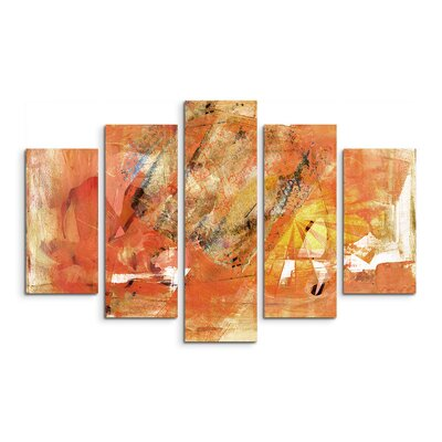 PaulSinusArt Enigma Abstrakt 929 Painting Print on Canvas Set