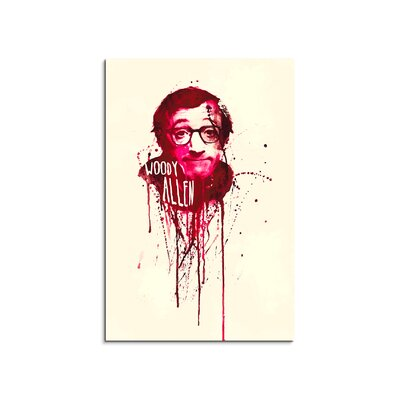 PaulSinusArt Enigma Woody Allen Painting Print on Canvas