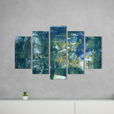 PaulSinusArt Enigma Abstrakt 851 Painting Print on Canvas Set