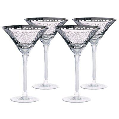 Leopard 8 Oz. Martini Glass Finish: Silver