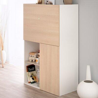 Flip Multifunctional 2 Door Accent Cabinet Color: Light Oak