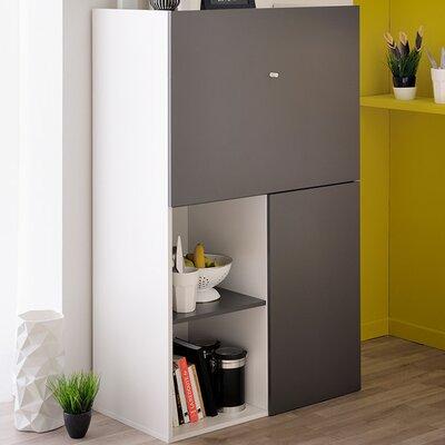 Flip Multifunctional 2 Door Accent Cabinet Color: Gray Anthracite