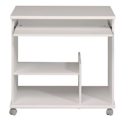Compact Computer Desk Color: White