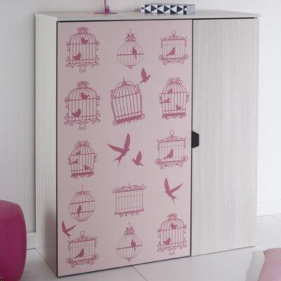 Gravity 1 Accent cabinet Door Color: Pink