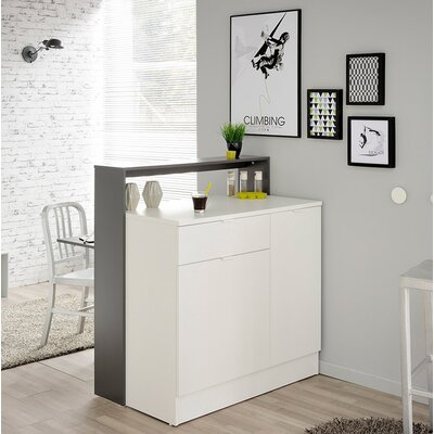 Key Transformable Mini Bar Color: Gray Anthracite