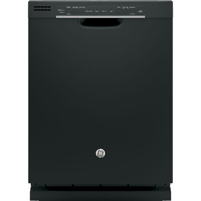 "24"" 54 dBA Built-In Dishwasher with Front Controls Finish: Black"