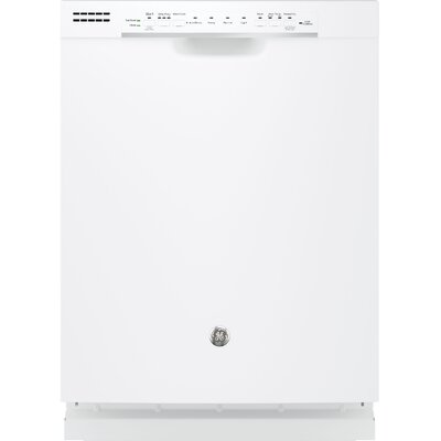"24"" 54 dBA Built-In Dishwasher with Front Controls Finish: White"