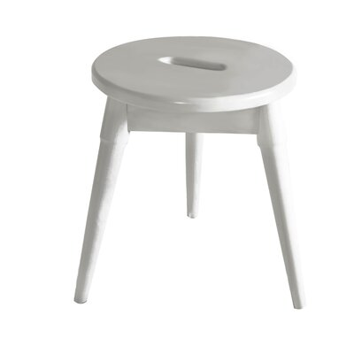 Ardell Round Tripod Accent Stool Finish: White