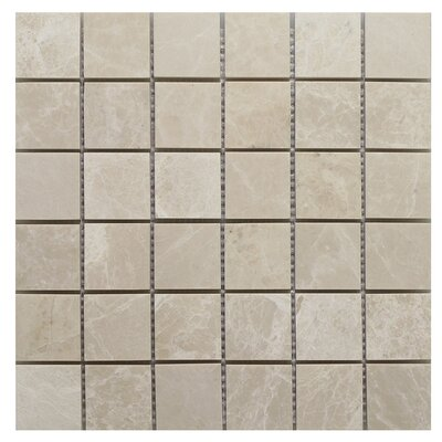 "Botticino Square 2"" x 2"" Mosaic Tile In Brown"