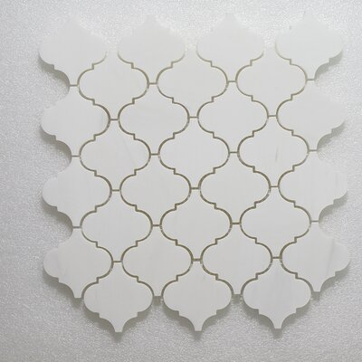 """Lanterna Wall 12"""" x 12"""" Glass Mosaic Tile in Gold Clear"""