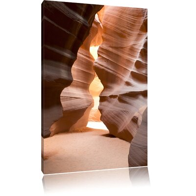 Pixxprint Rock Crevices in Antelope Canyon Arizona Photographic Print on Canvas