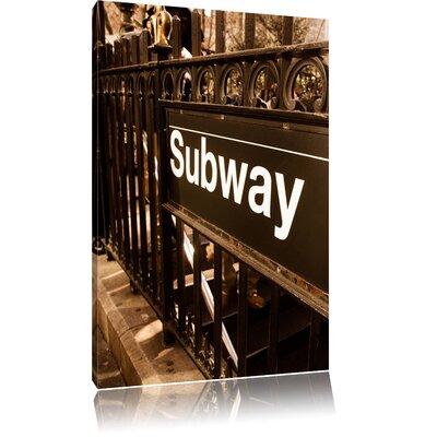 Pixxprint London Subway Station Photographic Print on Canvas