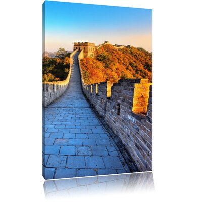 Pixxprint The Impressive Chinese Wall at Dawn Photographic Print on Canvas