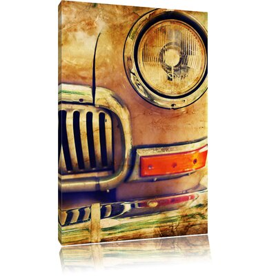 Pixxprint Oldtimer in Retro-Look Photographic Print on Canvas