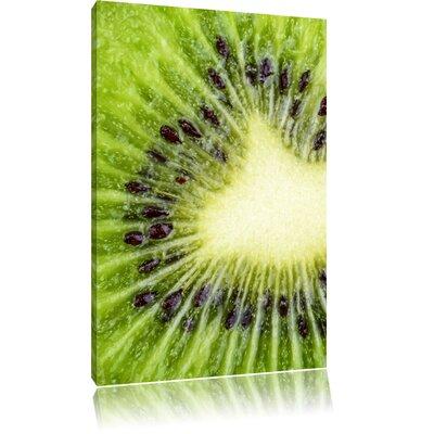 Pixxprint Large Kiwi Slices Photographic Print on Canvas