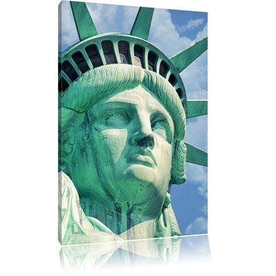 Pixxprint Impressive Statue of Liberty Photographic Print on Canvas