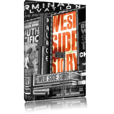 Pixxprint West Side Story The Famous Broadway Black and White Photographic Print on Canvas