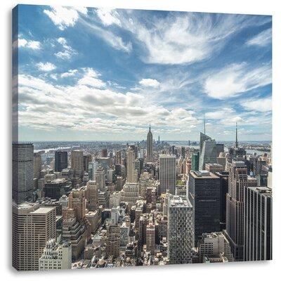 Pixxprint New York Skyline Photographic Print on Canvas