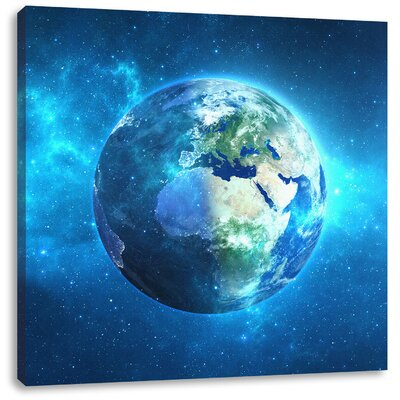 Pixxprint Earth in Universe Photographic Print on Canvas