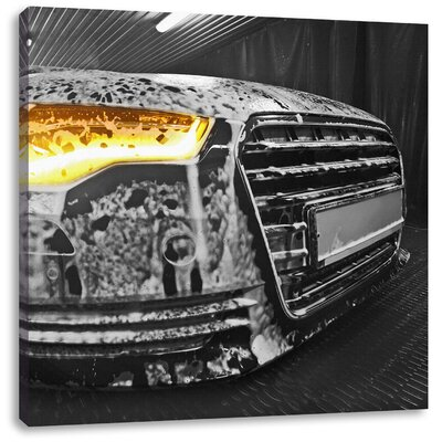 Pixxprint Audi Engine Photographic Print on Canvas