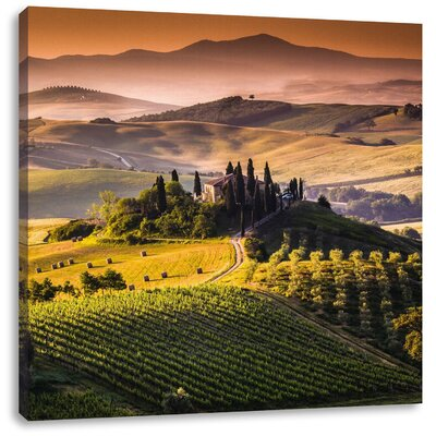Pixxprint Expansive Italian Tuscany Photographic Print on Canvas
