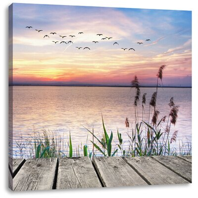 Pixxprint Magnificent Horizon Above the Ocean Photographic Print on Canvas