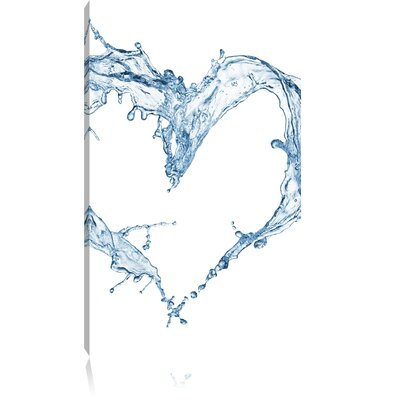 Pixxprint Heart of Water Photographic Print on Canvas