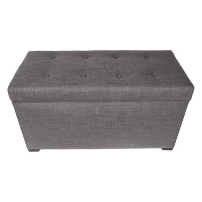 Fabric Storage Bench Color: Gray / Red Tint