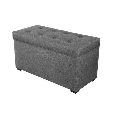 Fabric Storage Bench Color: Dark Gray