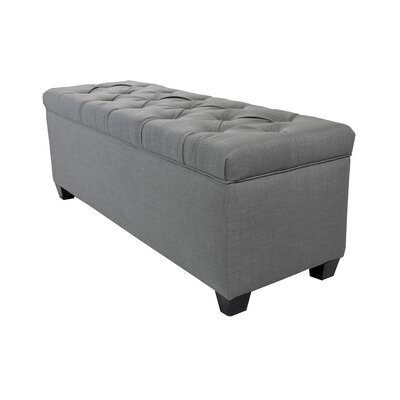 Erik Wood Storage Bench Upholstery: Light Gray