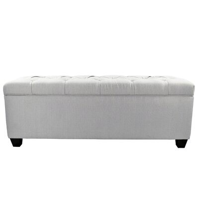 Heaney Diamond Tufted Upholstered Storage Bench Upholstery Color: Silver