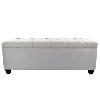 Erik Wood Storage Bench Upholstery: Silver