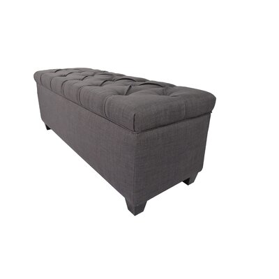 Heaney Diamond Tufted Upholstered Storage Bench Upholstery Color: Redish-Grey