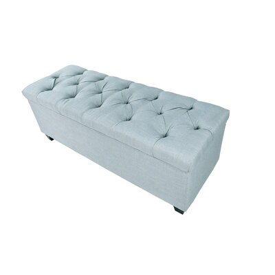 Erik Wood Storage Bench Upholstery: Light Blue