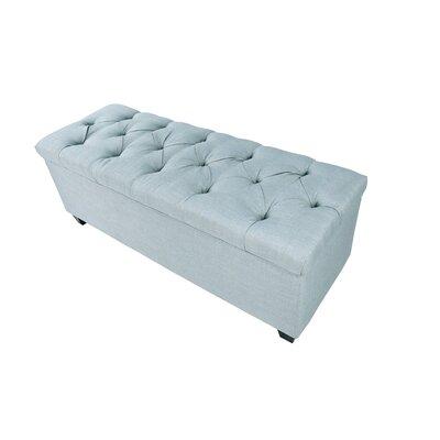 Erik Wood Storage Bench Upholstery: Light Blue