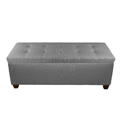 Hayworth Button Tufted Upholstered Storage Bench Upholstery Color: Light Gray
