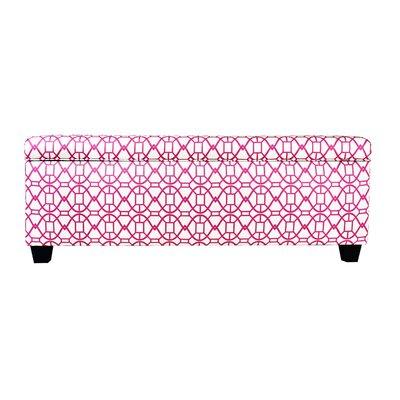 Seguis Upholstered Storage Bench Color: Blush