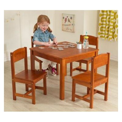 KidKraft Farmhouse Kids 5 Piece Table & Chair Set