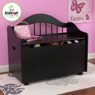 KidKraft Limited Edition Personalized Toy Box in Black