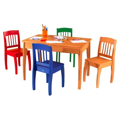 KidKraft Euro Honey Kids 5 Piece Table and Chair Set