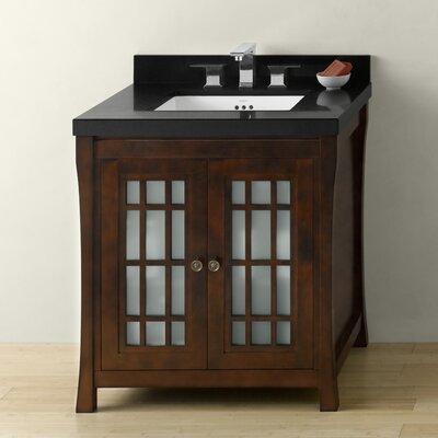 "Ronbow Shoji 30"" Bathroom Vanity Cabinet Base in Vintage Walnut"