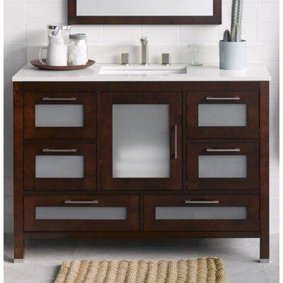 "Ronbow Athena 48"" Bathroom Vanity Base Cabinet in Dark Cherry"