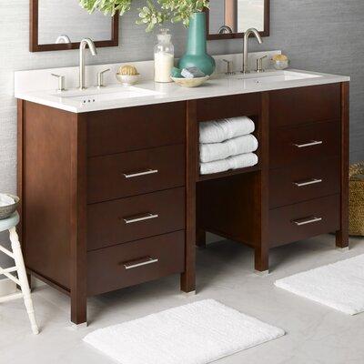 """Kali 62"""" Double Bathroom Vanity Set"""