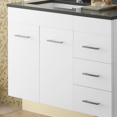 "Bella 23.06"" Single Bathroom Vanity Base Base Finish: White"