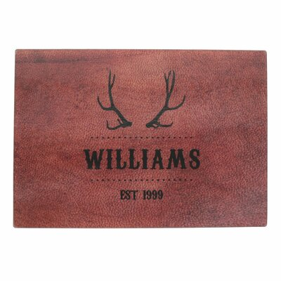 Personalized Antlers Design Glass Cutting Board