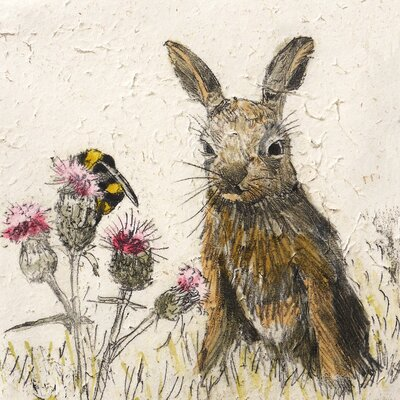 AnnabelLangrish Leveret by Annabel Langrish Graphic Art in Brown