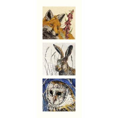 AnnabelLangrish Wildlife by Annabel Langrish 3 Piece Graphic Art Set