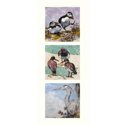 AnnabelLangrish Sea Birds by Annabel Langrish 3 Piece Graphic Art Set