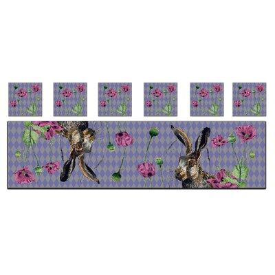 AnnabelLangrish Hare and Poppies Tablerunner & Napkin Set