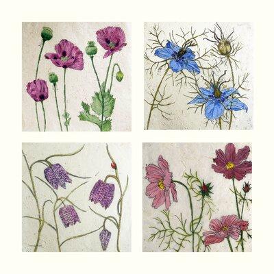 AnnabelLangrish Flowers by Annabel Langrish 4 Piece Graphic Art Set